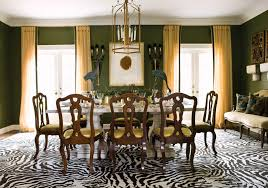 green dining room colors interior design