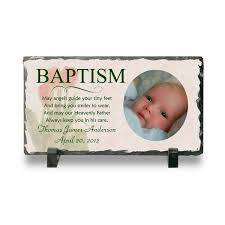 Baby Plaques Personalized Personalized Baptism Photo Slate Plaque Personalized Baby