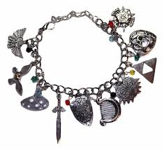 themed charm bracelet legend of silvertone assorted themed charm