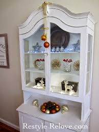 Dining Room Display Cabinet Dining Room Display Cabinet Restyled For Christmas