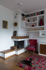 plasterboard shelving modern interior colorful interior