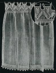 Lace Trim Curtains Filet Crochet Curtain Tea Cups Ideas Pinterest Lace Trim Curtains