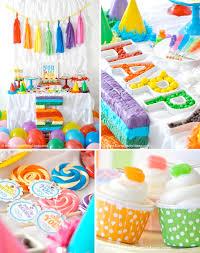 themed party supplies kara s party ideas rainbow themed birthday party kara s party
