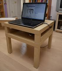 Sofa Computer Table by Alexander Pruss U0027s Blog Short Laptop Desk Made From Two Ikea Lack