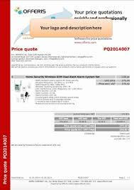 quotation format doc file sample of price quotation toreto co