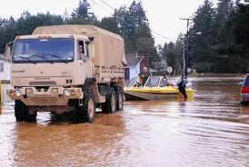 Washington national guard goes door to door shore to shore in