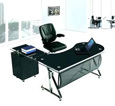 Glass L Shaped Desk Office Depot Glass Top L Shaped Desk Zcdh Me