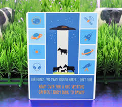 party invite for a backyard camping party ufo spotting kits