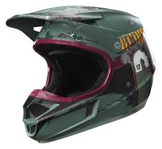 motocross youth helmets fox racing youth v1 boba fett le helmet revzilla
