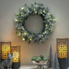 holiday time pre lit 18 christmas garland multi lights christmas wreaths hayneedle