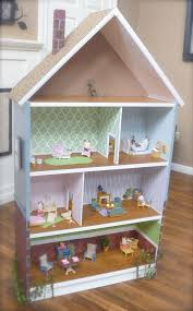 a billy bookcase is transformed into a diy dollhouse miniature