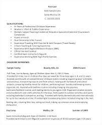 professional nanny resume sample nanny resume time nanny personal