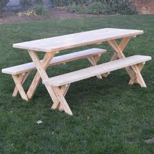 Plans For Picnic Table With Attached Benches by Picnic Tables You U0027ll Love Wayfair