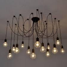 Chandelier Swag Lamp Vintage Edison Chandelier Light Retro Loft Diy Ceiling Pendant