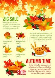 autumn season big sale banner template fall leaf autumn harvest