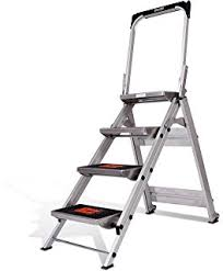 2 Step Handrail Amazon Com Little Giant Ladder Systems 10210ba Safety Step