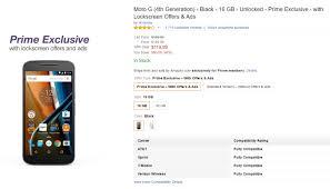 best black friday motorola deals prime deal moto g 4th generation black 16 gb for 120