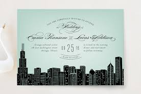 big city chicago wedding invitations by hooray creative minted - Chicago Wedding Invitations