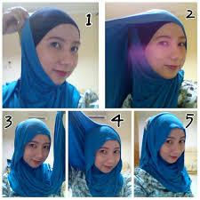 tutorial hijab pashmina kaos yang simple cara memakai jilbab pashmina kaos yang simple belajar hijab