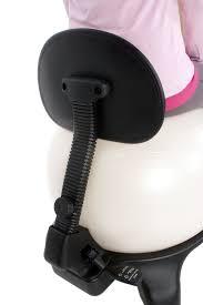 exercise ball office chair black 52cm ball adjustable back
