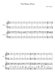 the piano duet danny elfman sheet for piano and keyboard