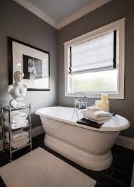 Wood Bathroom Etagere Rejuvenation Double End Pedestal Tub Transitional Bathroom