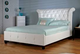 Tufted Leather Headboard Tufted White Leather Headboard With Regard To Plans 19
