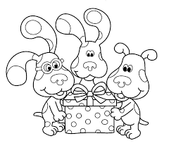 free printable blues clues coloring pages kids blues clues