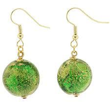 emerald green earrings murano earrings ca d oro earrings emerald green