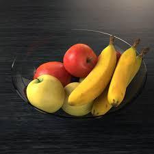 3d model fruit fruit bowl cgtrader