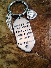 in memory of keychains rainbow bridge poem sted pet memorial pet loss keychain