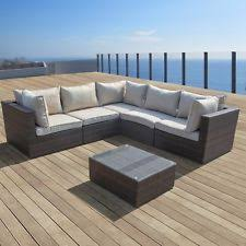 Outdoor Patio Furniture Sectional Supernova Outdoor Patio 6pc Sectional Furniture Pe Wicker Rattan