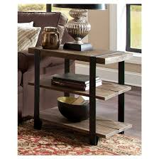 end table with shelves amazing reclaimed wood end table intended for 27 2 shelf metal strap