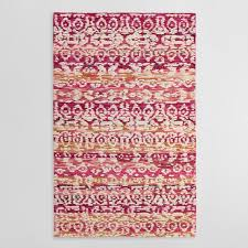 Ivory Area Rug Pink And Ivory Tufted Wool Samara Area Rug World Market