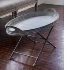 Metal Tray Coffee Table Oval Galvanized Metal Tray Coffee Table Revibe Designs