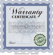 warranty certificate template very customizable includes stock