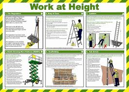 work at height health and safety poster safety services direct