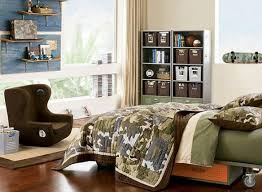 Teen Bookcase Interior Boys Teen Room Decor Features Green Army Stainless Teen