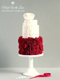 ruby wedding cakes snow white and cake made with by me
