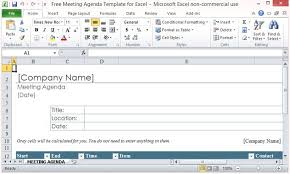 Meeting Agenda Template Excel free meeting agenda template for excel