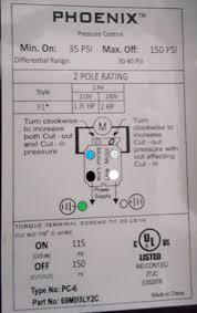 pressure control switch wiring pump pressure switch wiring diagram