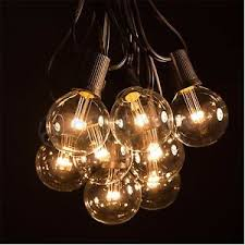 white string lights white cord g50 led warm white outdoor patio globe string lights 50 100 and