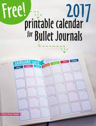 thanksgiving 2017 calendar free 2017 calendar printable for bullet journals press print party