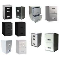 Black Metal File Cabinet 2 Drawer Filing Cabinets Ebay