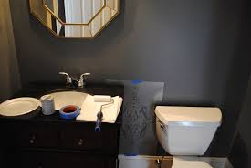 Powder Room Towels House By Holly A Bold U0026 Dramatic Powder Room A Stencil Project