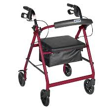 senior walkers with seat drive rollator walker with fold up and removable back