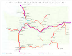 Bellingham Washington Map by Friends Of Transit Washington Passenger Rail Map Transit 509