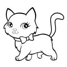 cat kitty animal pet drawing coloring pages