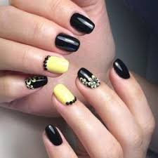 black and yellow nails the best images bestartnails com
