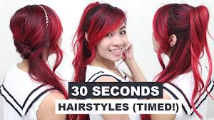 hair styles for in late 30 30 seconds hairstyles timed l running late hairstyles l quick